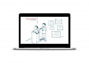 Presentatie op maat gemaakte illustraties